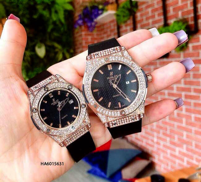đồng hồ cặp hublot đính đá giá rẻ