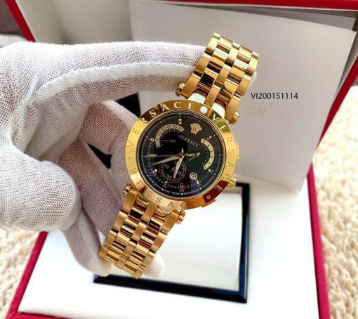 Đồng hồ Nam Versace V- Race black dây thép không gỉ