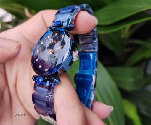 Đồng hồ Dior dây thép không gỉ cao cấp màu xanh