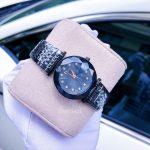 Đồng hồ Dior nữ mặt hoa kim cương cao cấp