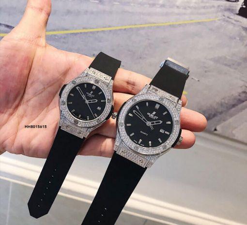 Đồng hồ cặp Hublot Chronograph - Geneve siêu cấp viền đính đá