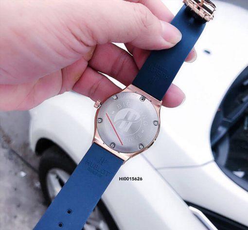 Đồng hồ Hublot Geneve nữ dây màu xanh