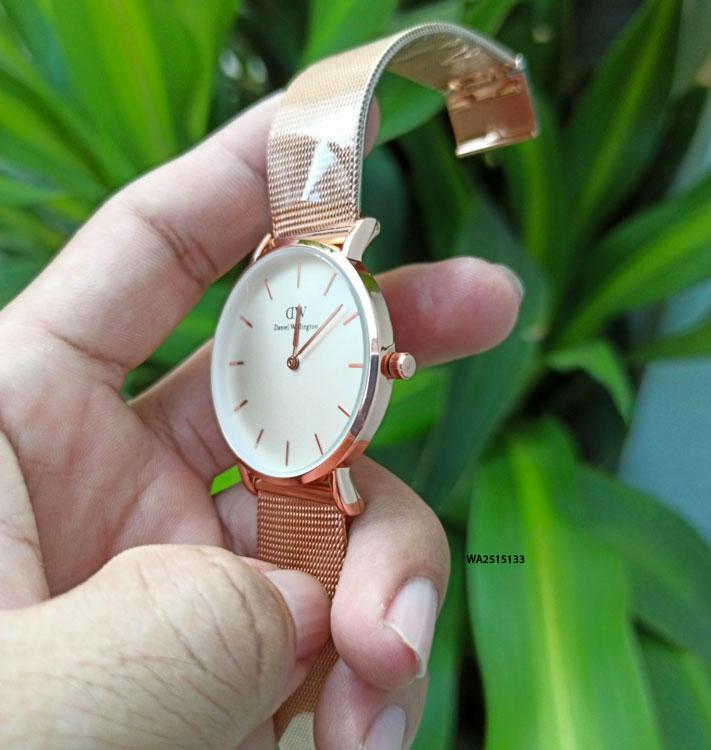 Đồng hồ Daniel Wellington Unisex nam nữ dây lưới giá rẻ