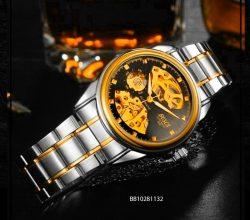 Đồng hồ bosck cơ nam dây kim loại giá rẻ dưới 500k
