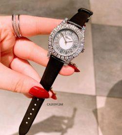 đồng hồ chopard nữ đính đá dây da