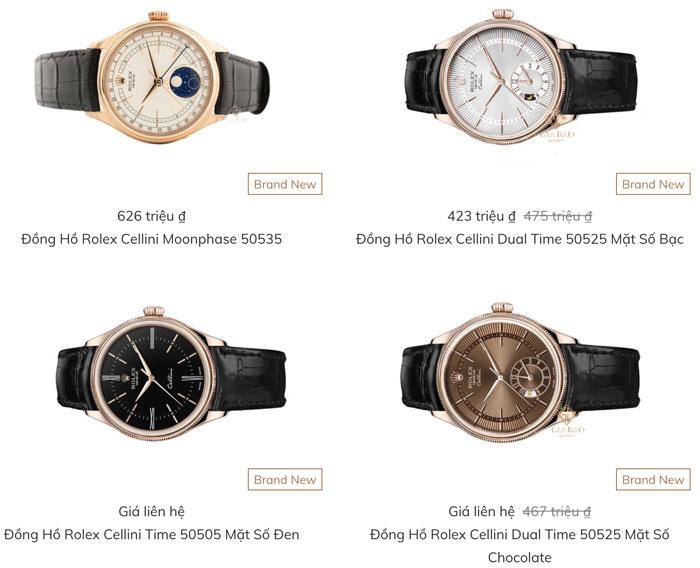 Đồng hồ rolex chính hãng giá bao nhiêu tiền