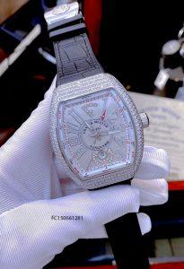 Đồng hồ nam Franck muller Vanguard V45 máy cơ đính đá cao cấp