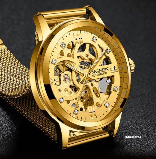 Đồng hồ cơ nam Automatic Fngeen dây kim loại giá rẻ