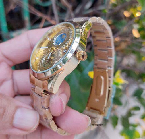 đồng hồ nam mặt rồng dây thép vàng giá rẻ