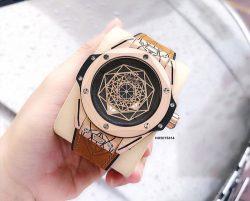 Đồng hồ Hublot Classic Big Bang Sang Bleu dây cao su màu nâu