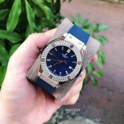Đồng hồ Hublot Nữ dây màu xanh siêu cấp