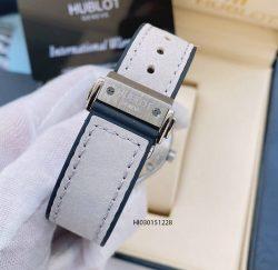 Đồng hồ Hublot Nữ dây cao su màu Xám đính đá cao cấp