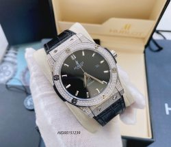 Đồng hồ nam Hublot Classic Fusion máy cơ Automatic dây cao su bọc da
