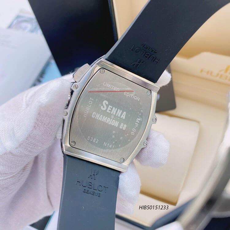 Đồng hồ Hublot Champion Senna Nam dây cao su màu đen