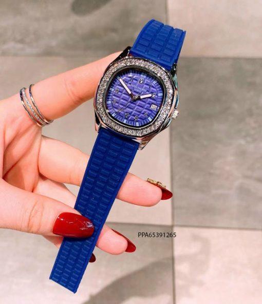 đồng hồ patek philippe dây cao su xanh giá rẻ