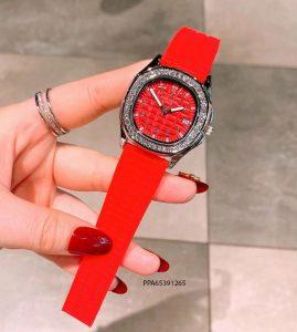 đồng hồ patek philippe dây cao su dỏ giá rẻ