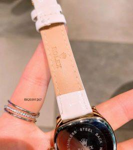 Đồng Hồ Rolex nữ dây da mặt vuông giá rẻ