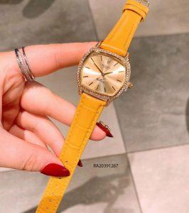 Đồng Hồ Rolex nữ dây da vàng mặt vuông giá rẻ