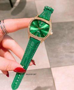 Đồng Hồ Rolex nữ dây da xanh mặt vuông giá rẻ
