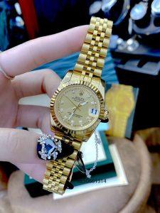 Đồng hồ đeo tay Cặp Rolex Oyster Perpetual Datejust mạ vàng cao cấp giá rẻ
