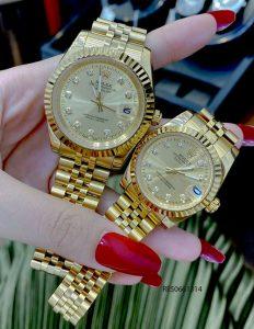 Đồng hồ Cặp Rolex Oyster Perpetual Datejust mạ vàng cao cấp giá rẻ