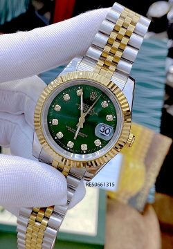 Đồng hồ Cặp Rolex Oyster Perpetual Datejust demi mặt xanh cao cấp giá rẻ