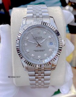 Đồng hồ Cặp Rolex Oyster Perpetual Datejust mặt xám cao cấp