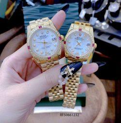 Đồng Hồ Rolex Oyster DATEJUST nữ dây vàng mặt trắng cao cấp