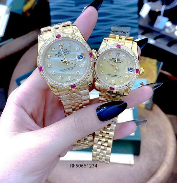 Đồng Hồ Rolex Oyster DATEJUST nữ dây vàng mặt vàng cao cấp