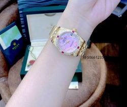 Đồng Hồ Rolex Oyster DATEJUST nữ dây vàng mặt hồng cao cấp