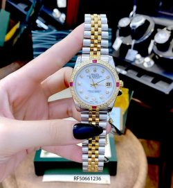 Đồng hồ Rolex Oyster Perpetual Datejust nữ dây demi cao cấp