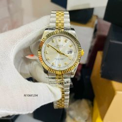 Đồng hồ Rolex Nam máy cơ automatic dây kim loại mạ vàng
