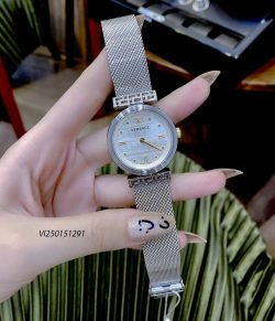 Đồng hồ Nữ Versace Meander Steel dây kim loại màu vàng cao cấp
