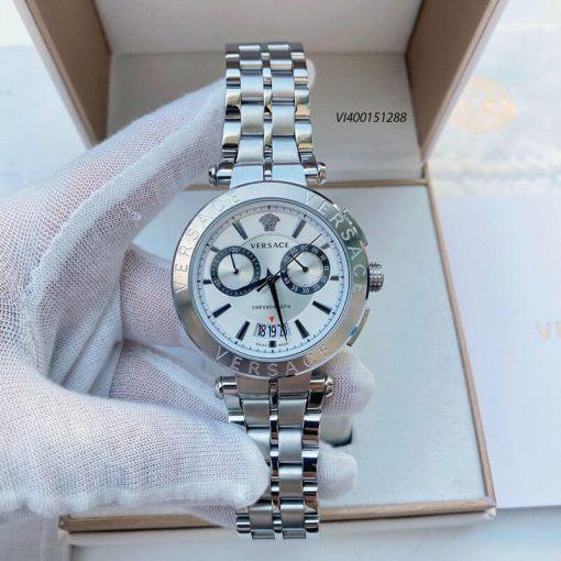 Đồng hồ Nam Versace Aion Chronograph dây kim loại cao cấp