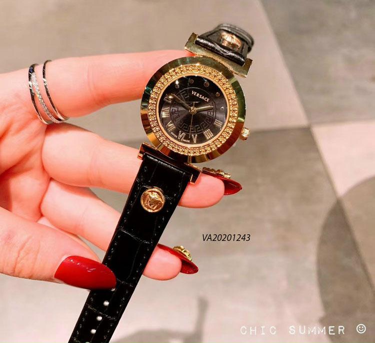 Đồng hồ nữ versace dây da giá rẻ