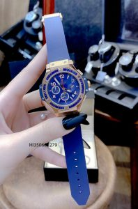 đồng hồ hublot big bang nữ dây xanh cao cấp
