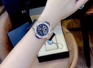 đồng hồ hublot big bang nữ dây đen cao cấp