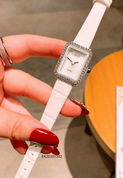 Đồng hồ nữ Chanel mặt vuông mini dây da giá rẻ