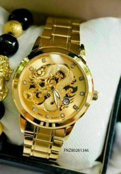 Đồng hồ nam rồng vàng dây vàng giá rẻ