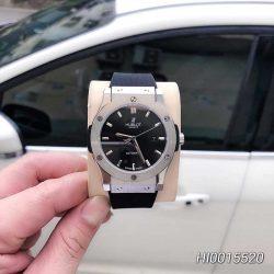 Đồng hồ hublot nam máy cơ đính đá dây cao su màu đen