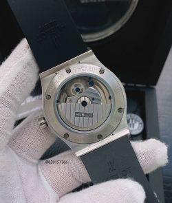 Đồng hồ Nam Hublot máy cơ Thụy Sĩ đính đá dây cao su màu đen