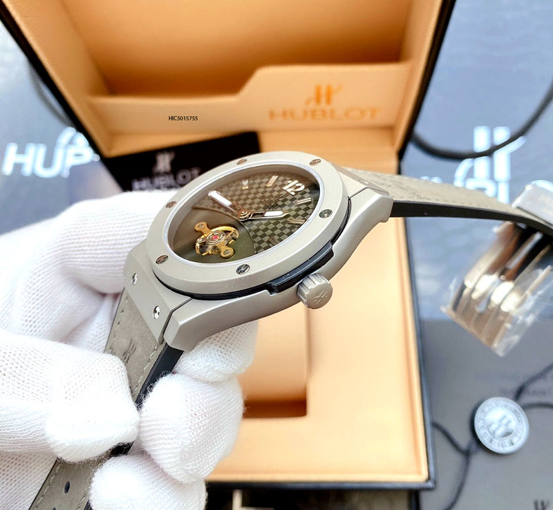 Đồng hồ Hublot nam máy cơ tự động classic fusion dây cao su bọc da cao cấp