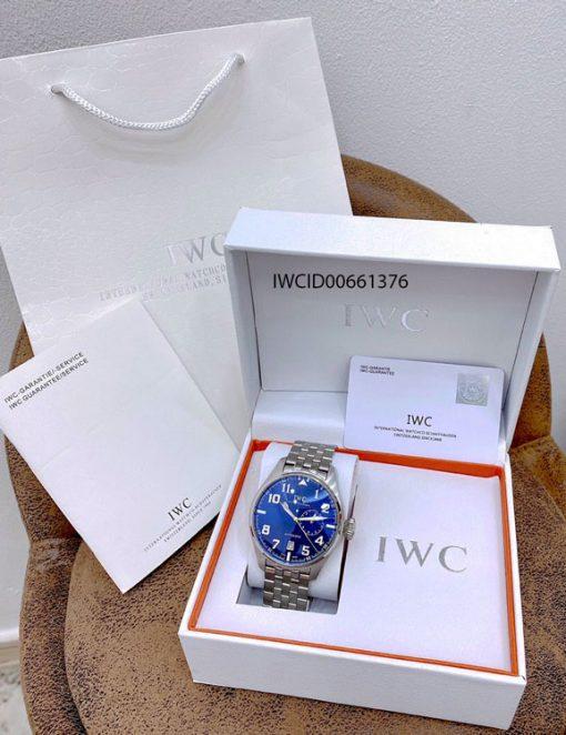 Đồng hồ Nam IWC Big Pilot Big Blue dây kim loại cao cấp