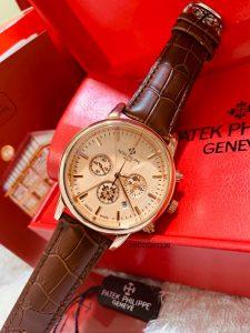 đồng hồ patek philippe 6 kim nam dây da giá rẻ