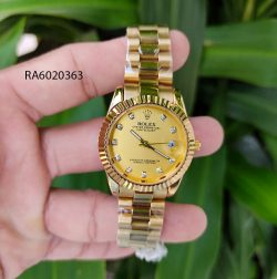 Đồng Hồ Rolex Oyster nữ Mini dây inox nguyên khối