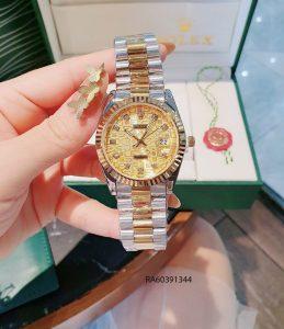 Đồng hồ nam mặt vân dây đúc đặc màu demi vàng giá rẻ