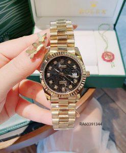 Đồng hồ nam mặt vân dây đúc đặc màu vàng giá rẻ