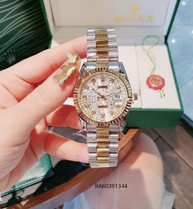 Đồng hồ nam mặt vân dây đúc đặc màu demi giá rẻ