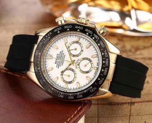 Đồng Hồ Rolex Nam mặt trắng dây cao su  giá rẻ