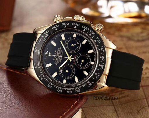 Đồng Hồ Rolex Nam dây cao su mặt đen giá rẻ